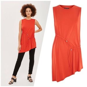 NWT Topshop Sleeveless Ruched Tunic